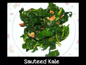 sauteed kale with border