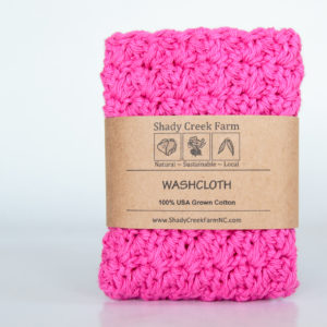 Hot Pink Crochet Washcloth