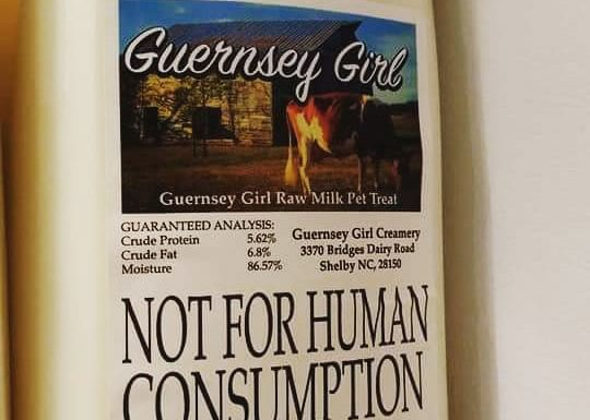 Guernsey Girl Creamery - Raw Milk Not For Human Consumption