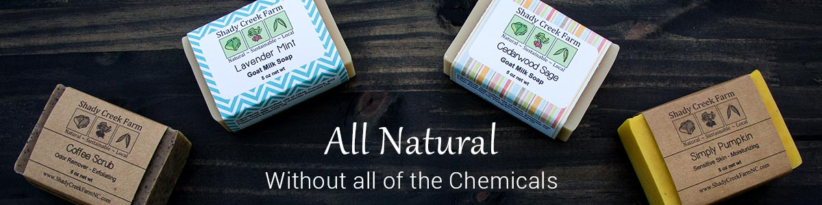 All Natural Soap - Without all of the chemicals
